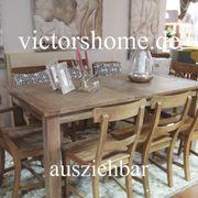 Ausziehbarer Esstisch Hartholztisch 160 auf