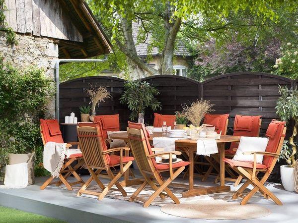 Gartenmöbel Set Holz 8-Sitzer mit