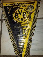 BVB Wimpel mit Orginal Unterschriften