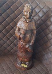 Holzfigur Mönch handgeschnitzt ca 50cm
