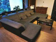 Couch U-Form Sofa Wohnlandschaft