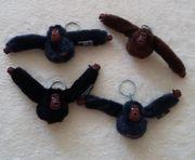 4 Kippling-Affen Originale Anhänger