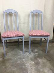 2 Stühle retro Shabby Chic