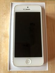 i phone 5 silber weiß