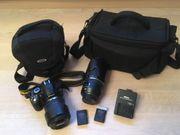 Spiegelreflexkamera Nikon mit Teleobjektiv
