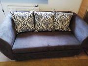 braune Couch Sofa Schlafcouch mit