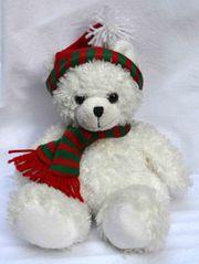 Stofftier weißer Weihnachts-Teddy Marke Centor