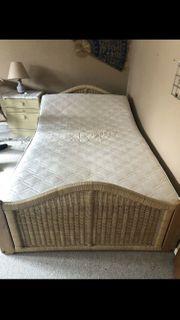 Bett aus Korbgeflecht Rattan