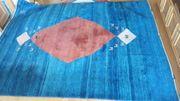 Gabbeh Teppich blau 330x250 cm