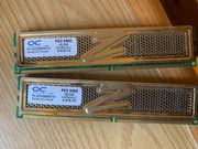 2x 1 Gbyte RAM DDR2