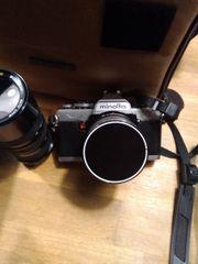 Minolta Kamera mit Zubehör