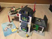 Playmobil Polizeistation mit Hubschrauber und