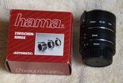 Zwischenringsatz für manuelle Nikon Spiegelreflex