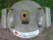 Graue 11 kg Propan Gasflasche - leer