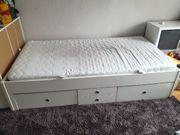100x200cm Bett mit Schubladen weiß