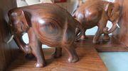 ELEFANT Holzfigur Holz Handarbeit Afrika