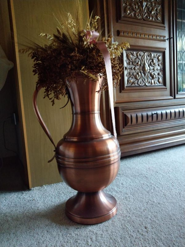 Kupfer-Bodenvase - Kupferkanne neuwertig