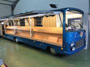 Oldtimer Verkaufswagen Food Truck Peugeot