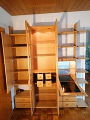 Omnia-Wohnwand Wohnzimmer Set Schrankwand Kernbuche
