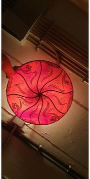 Orientalische rote Lampe