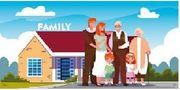 Geschäftsleute suchen ein Haus mit