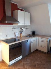 weiße Eckküche 240x120 cm mit