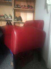 Art Deco style Roter Kunstleder