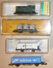 4x Güterwagen Güterzug Konvolut N
