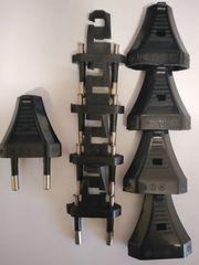 5x Euro-Stecker schwarz 2polig