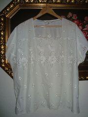 Vintage Bluse - Lochstickerei - Gr XXXL