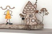 papierdrahtfiguren Pippi Langstrumpf Dekoration Geschenke