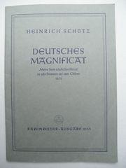 Chornoten Heinrich Schütz