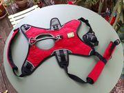 Sicherheitsgeschirr 3-Gurt Ruffwear rot Größe