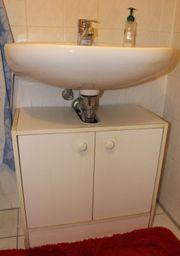 Weißer Waschbecken-Unterschrank aus Holz