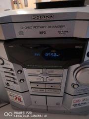 sharp stereo Anlage mit Boxen