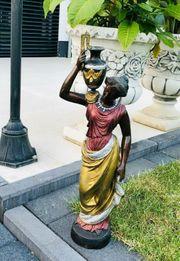 Eisengussfigur schwarz braun gold mokka