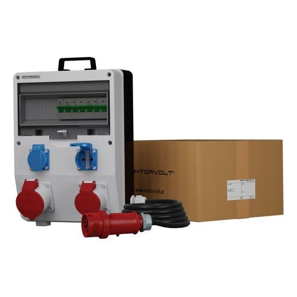 Tragbare Baustromverteiler ECO-S FI 32A