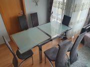 Esstich ausziehbar mit 6 Stühlen