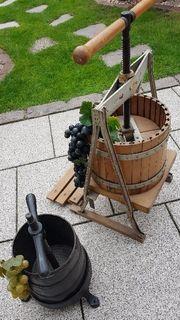 Weinpressen Deko