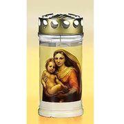 Kerze mit Bild Motiv und