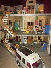 Playmobil Puppenhaus alle Räume Hotelbus