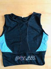schwarz-blaues Lauf- oder Fitnesstop von