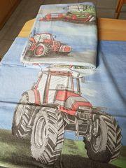Kinderbettwäsche Traktor und Mähdrescher 135