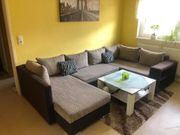 Sofa Couch Wohnlandschaft mit Bettfunktion