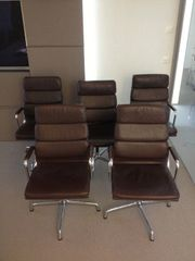 5 Vintage Eames Softpad Chairs