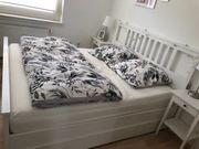 Ikea Bett Hemnes inkl Schubladen -