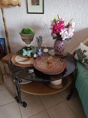 Wohnzimmer Tisch Schmiedeeisen Couchtisch Handarbeit