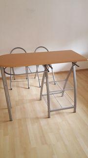 mobiler Küchen-Essplatz mit 2 Stühlen
