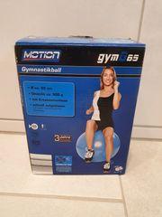 Gymnastikball 65cm blau Motion gymG65