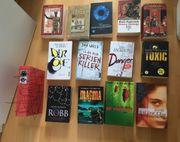 13 verschiedene Bücher Thriller und